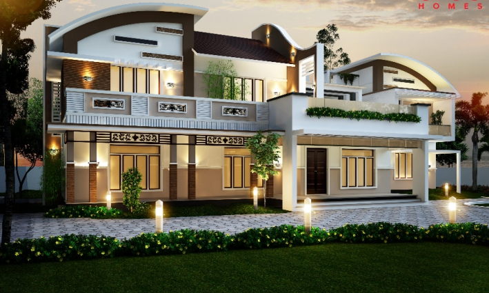 mẫu thiết kế biệt thự đẹp 2020