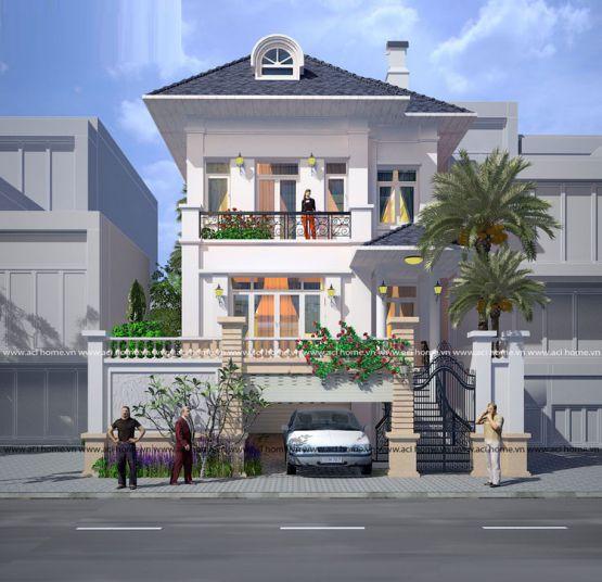 Biệt thự kiểu pháp 3 tầng