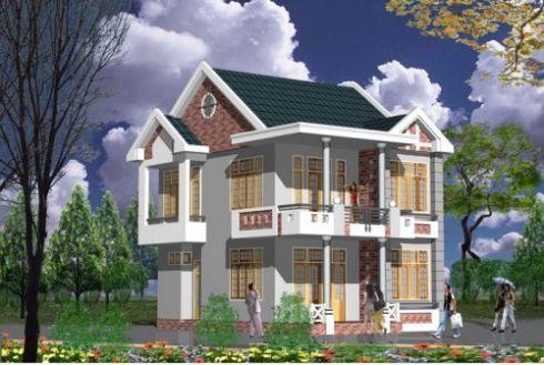 Phương án 45 mẫu biệt thự mái thái 2 tầng đẹp phong cách Mới