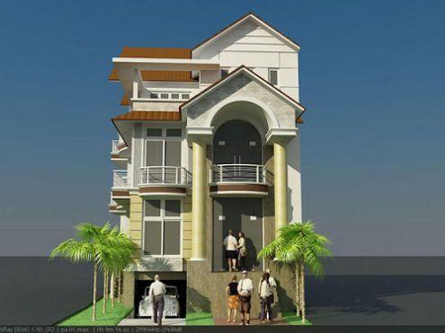 Mẫu thiết kế biệt thự 4 tầng đẹp mang lối kiến trúc Châu Âu