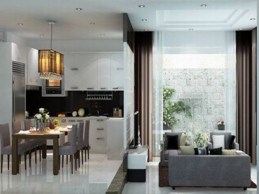 Cách bố trí nội thất hiện đại, mang lại không gian sống lý tưởng.