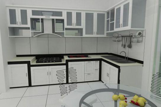 Bộ sưu tập 0.9 mẫu tủ bếp nhôm kính cao cấp – Noithatwiki