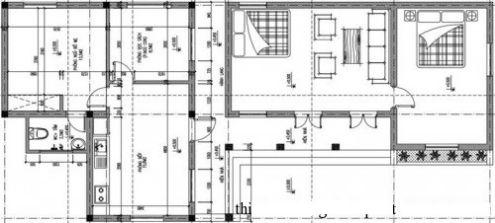 Mặt bằng cải tạo và xây mới nhà cấp 4
