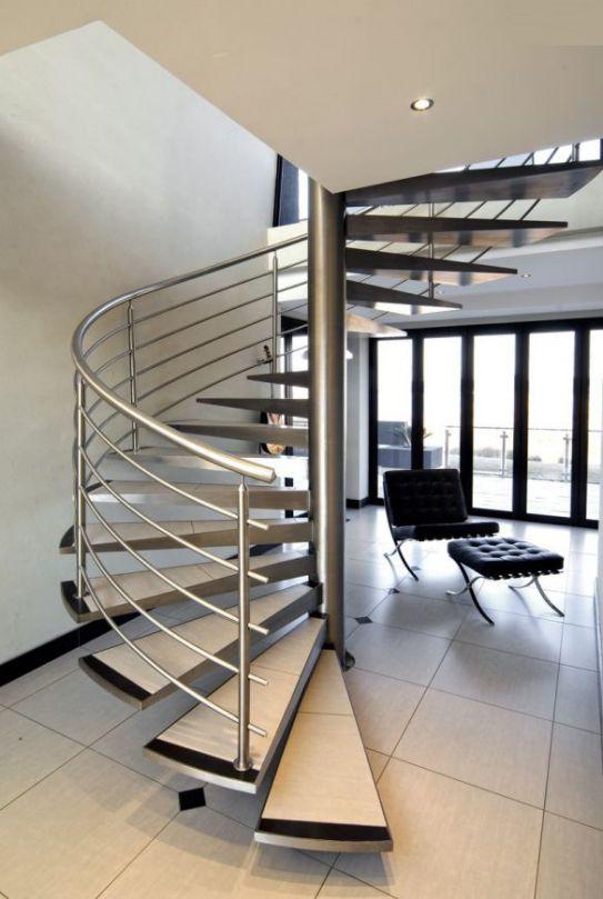 Cầu thang inox – 100 mẫu cầu thang đẹp nhất mọi thời đại
