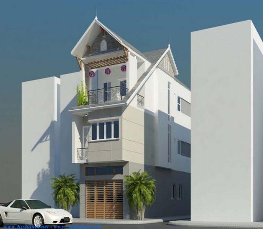 Mẫu nhà đẹp 3 tầng 5x12m