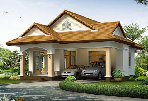 Mẫu nhà mái thái 1 tầng đẹp (hình 1)