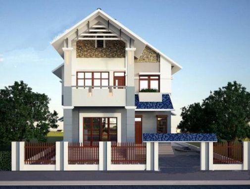 Mẫu nhà mái thái 2 tầng đẹp (hình 2)