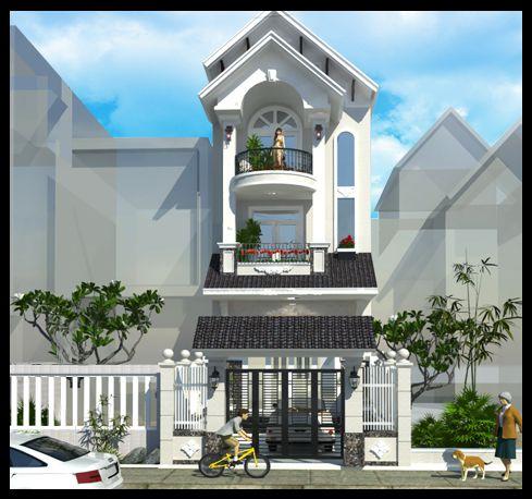 Mẫu nhà mái thái 3 tầng đẹp (hình 3)