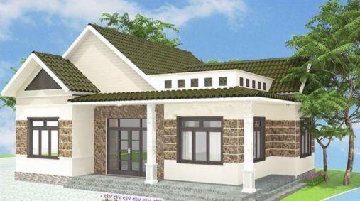 Mẫu nhà nông thôn 1 tầng đẹp (hình 1)