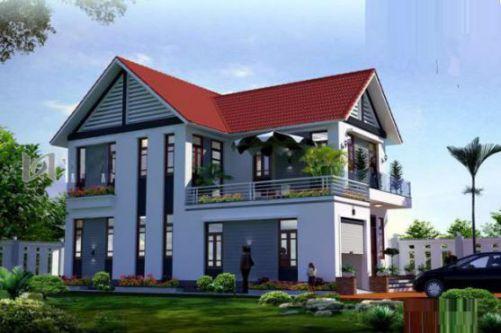 Mẫu nhà nông thôn 2 tầng đẹp (hình 2)