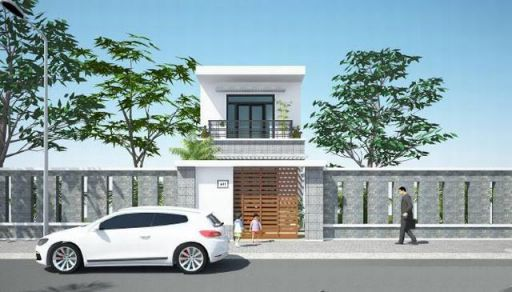Mẫu nhà phố 1 tầng đẹp (hình 1)