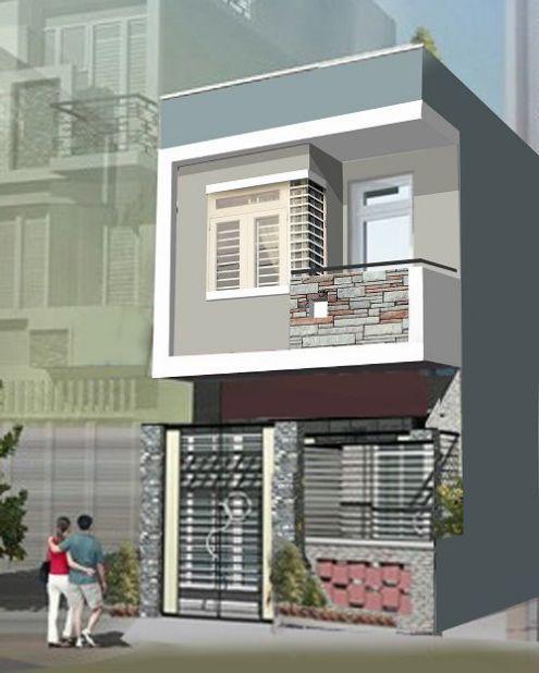 Mẫu nhà phố 1 tầng giá rẻ