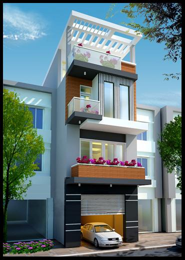 BTS mẫu nhà phố đẹp mặt tiền 5m – Kiến trúc nhà đẹp 2019