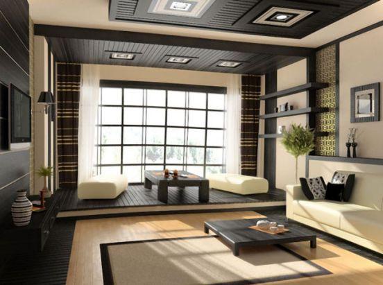 Mẫu phòng khách đẹp kiểu nhật bản.