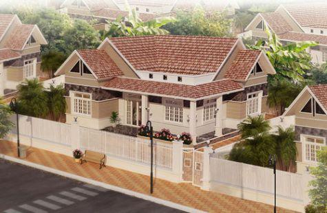 Phương án 99 mẫu thiết kế biệt thự nhà vườn 1 tầng ở Nông Thôn