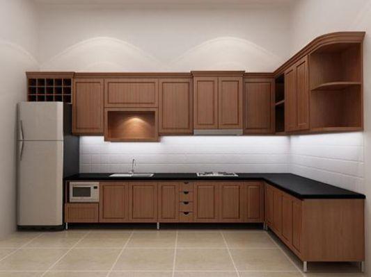 Mẫu tủ bếp đơn giản đẹp