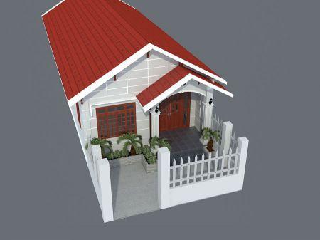 Video hình ảnh 3D mẫu nhà cấp 4 mái tôn có gác lửng Đẹp