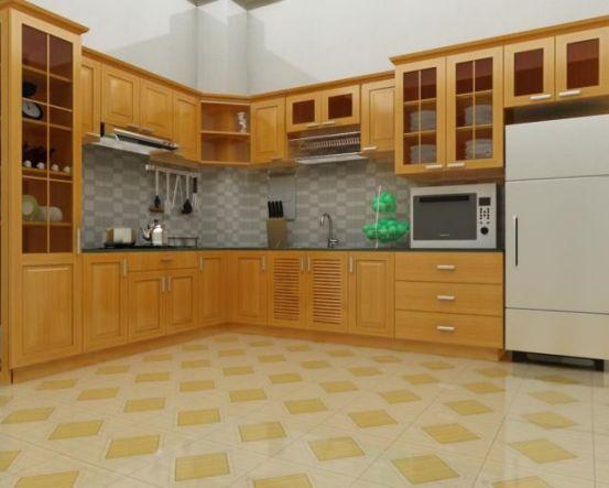 Nội thất nhà bếp đơn giản