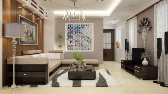 Phòng khách đơn giản sang trọng