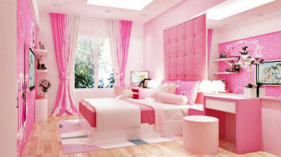 Phòng ngủ cho bé gái nhỏ xinh