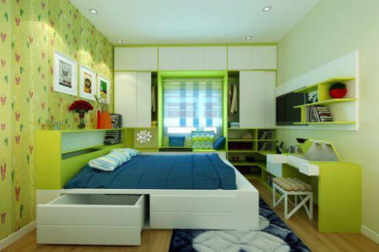Phòng ngủ đẹp cho nhà hẹp