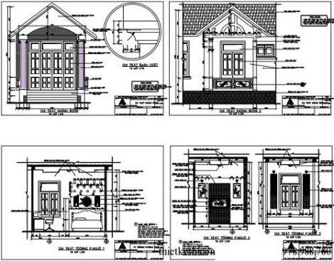 Mặt cắt chi tiết của sảnh nhà