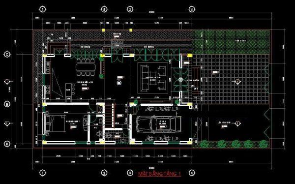 Bố trí không gian tầng 1