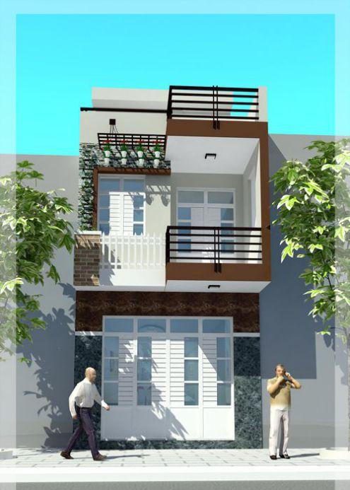 Thiết kế nhà phố 1 tầng đẹp