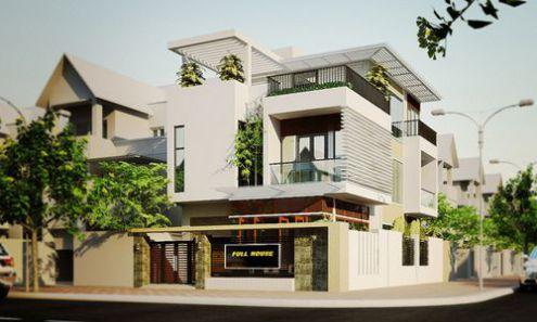 Thiết kế nhà phố 2 mặt tiền kinh doanh