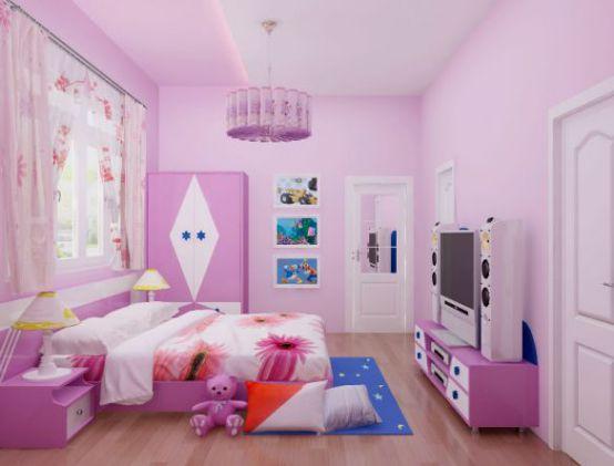 Thiết kế phòng ngủ đẹp cho bé gái