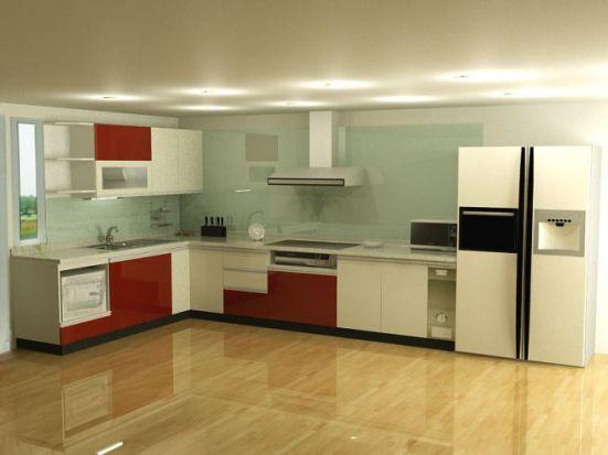Thiết kế tủ bếp bằng inox
