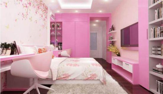 Trang trí nội thất phòng ngủ cho bé gái