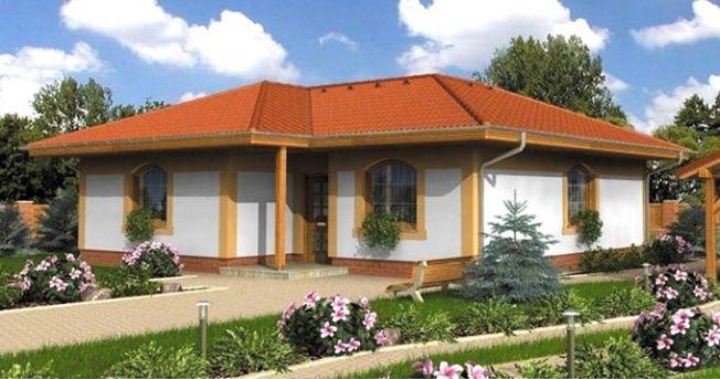 BTS+ bản vẽ nhà cấp 4 đẹp 10×10 kiểu nhà vườn nhỏ Xinh