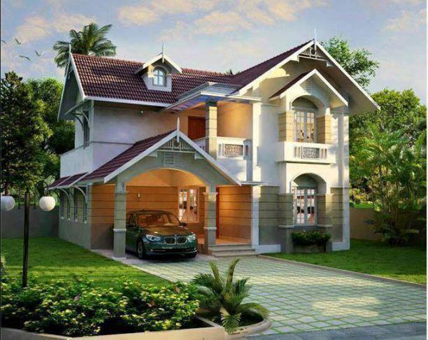 Thông tin mẫu biệt thự 2 tầng mái thái đẹp hot nhất Hôm Nay