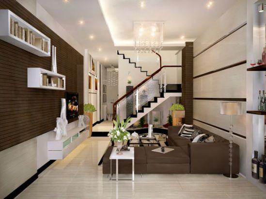 Top 10 Mẫu Thiết Kế Phòng Khách Nhà Phố Đẹp (Phối Cảnh 7)