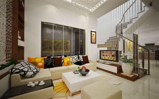 Top 10 Mẫu Thiết Kế Phòng Khách Nhà Phố Đẹp (Phối Cảnh 6)