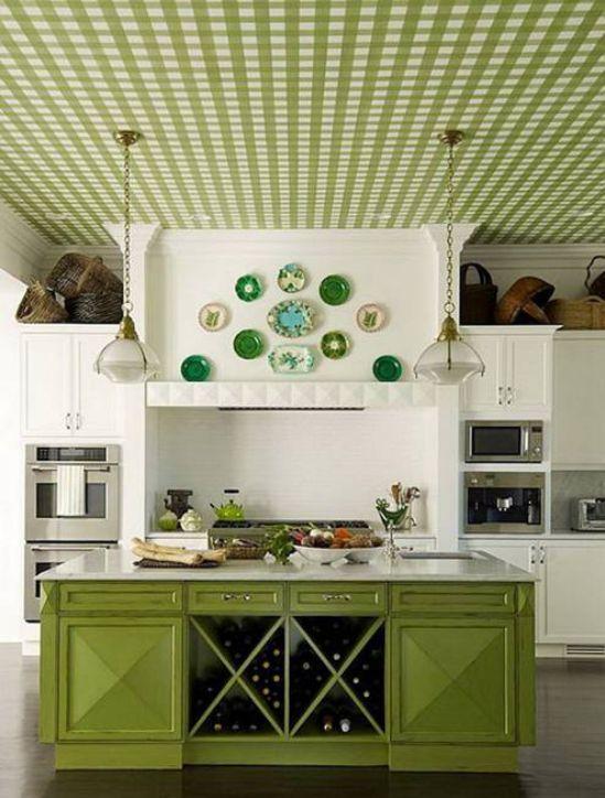 Mẫu nhà bếp màu xanh lá cây mang lại sự tươi mát cho không gian nhà bếp - Hình 1