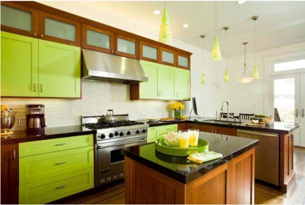 Mẫu nhà bếp màu xanh lá cây mang lại sự tươi mát cho không gian nhà bếp - Hình 10