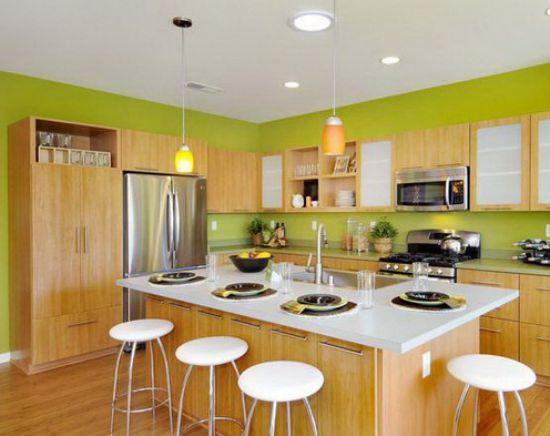 Mẫu nhà bếp màu xanh lá cây mang lại sự tươi mát cho không gian nhà bếp - Hình 7