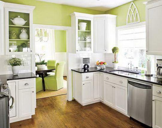 Mẫu nhà bếp màu xanh lá cây mang lại sự tươi mát cho không gian nhà bếp - Hình 6