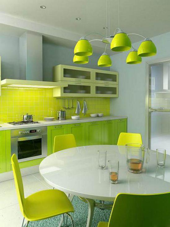 Mẫu nhà bếp màu xanh lá cây mang lại sự tươi mát cho không gian nhà bếp - Hình 5