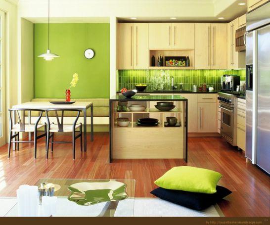 Mẫu nhà bếp màu xanh lá cây mang lại sự tươi mát cho không gian nhà bếp - Hình 4