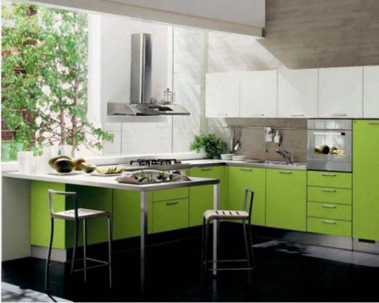 Mẫu nhà bếp màu xanh lá cây mang lại sự tươi mát cho không gian nhà bếp - Hình 3