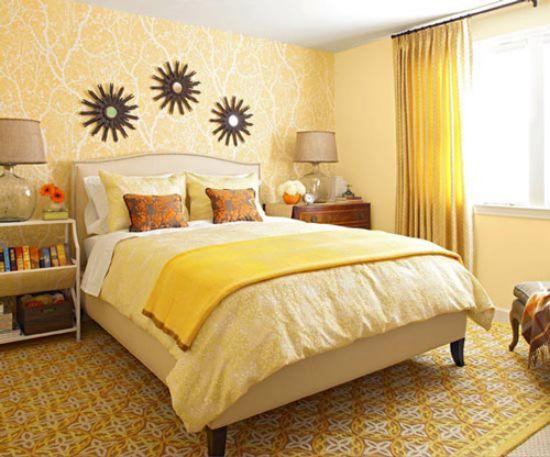 Mẫu thiết kế phòng ngủ màu vàng đẹp nhất dành cho năm 2017 - Ảnh 15