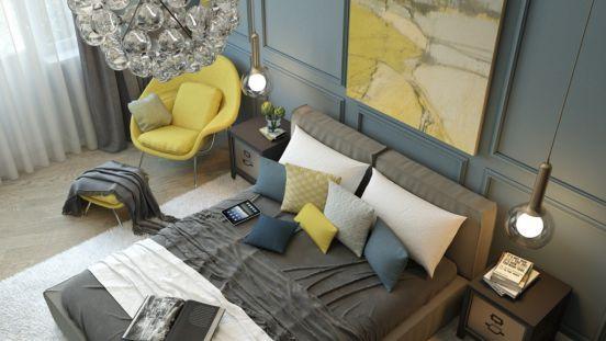 Mẫu thiết kế phòng ngủ màu vàng đẹp nhất dành cho năm 2017 - Ảnh 6