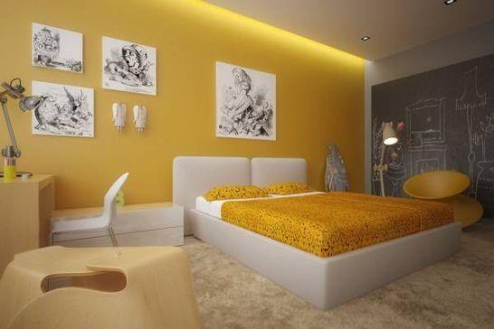 Mẫu thiết kế phòng ngủ màu vàng đẹp nhất dành cho năm 2017 - Ảnh 5
