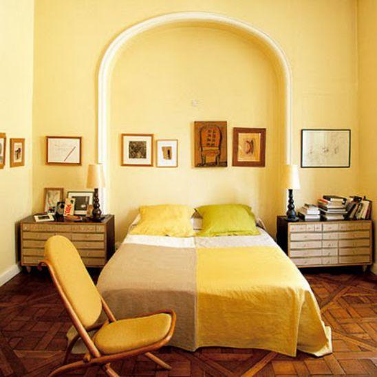 Mẫu thiết kế phòng ngủ màu vàng đẹp nhất dành cho năm 2017 - Ảnh 2