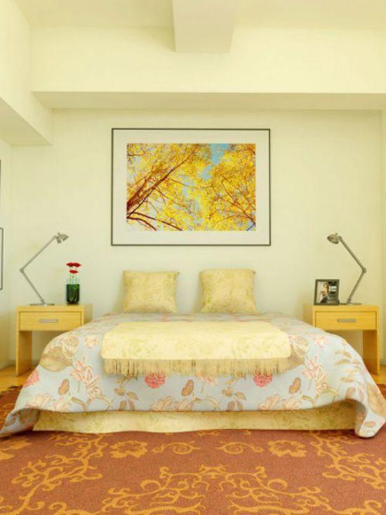 Mẫu thiết kế phòng ngủ màu vàng đẹp nhất dành cho năm 2017 - Ảnh 1