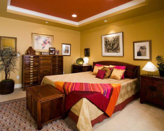 Mẫu thiết kế phòng ngủ màu vàng đẹp nhất dành cho năm 2017 - Ảnh 14