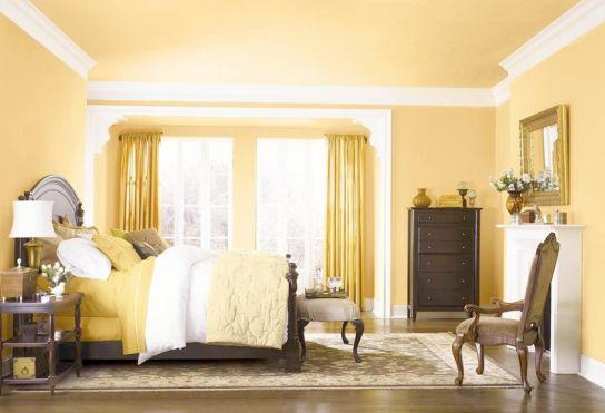 Mẫu thiết kế phòng ngủ màu vàng đẹp nhất dành cho năm 2017 - Ảnh 12